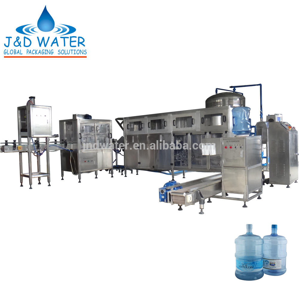 Complete 5 Gallon Bottle Water Production Line with CE mark
