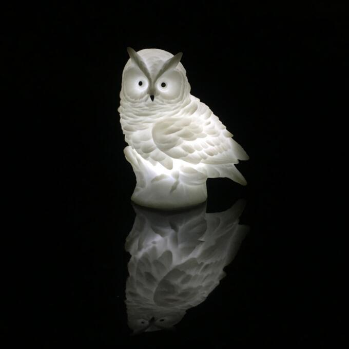 LED OEM Creative cute owl cartoon battery night light ECO-ABS For Children Baby Kids gift