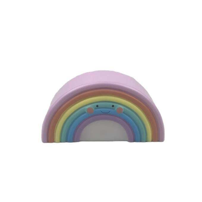 LED OEM Creative cute rainbow with face expression battery night light ECO-ABS For Children Baby Kids gift