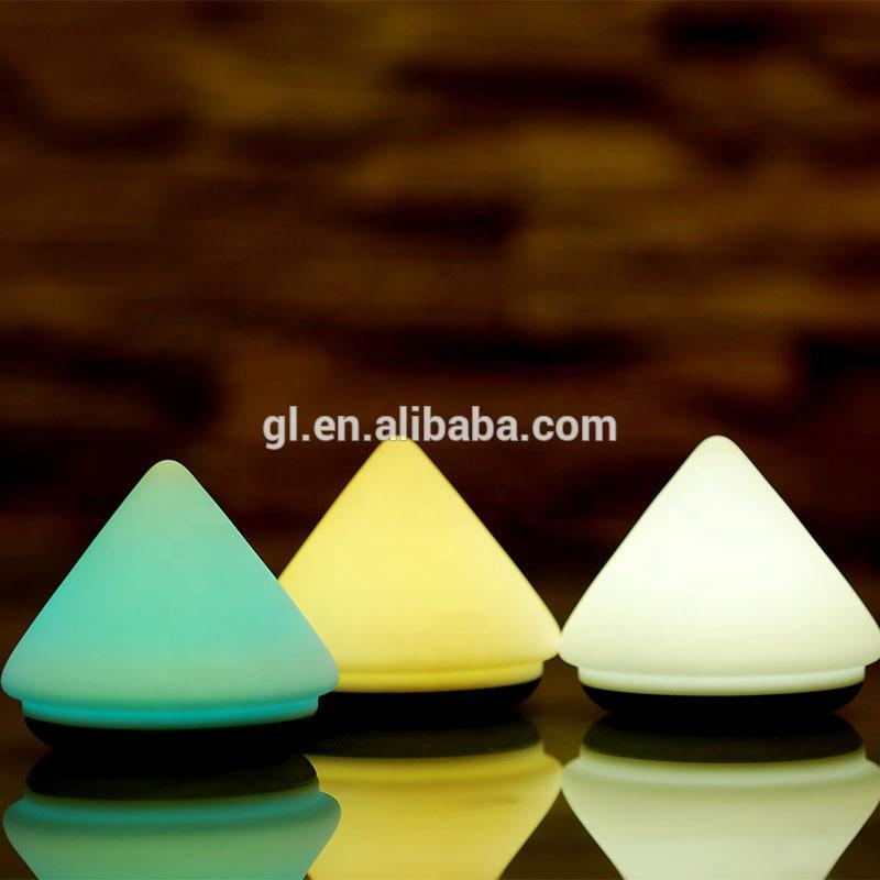 Bedroom Atmosphere Lamp creative volcano shape Rechargeable Hand Pat Touch Control Color Changing LED Silicone Gel Night Light