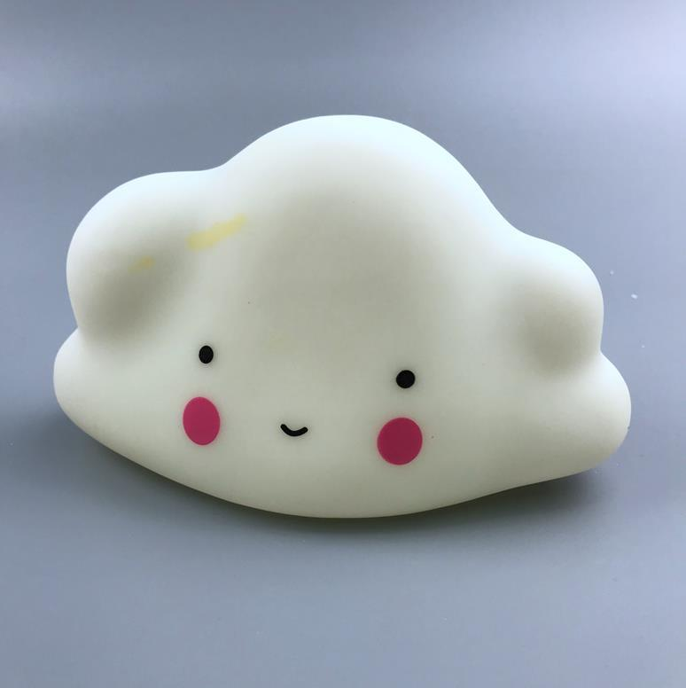 LED OEM Creative cute cloud with face expression battery night light ECO-ABS For Children Baby Kids gift