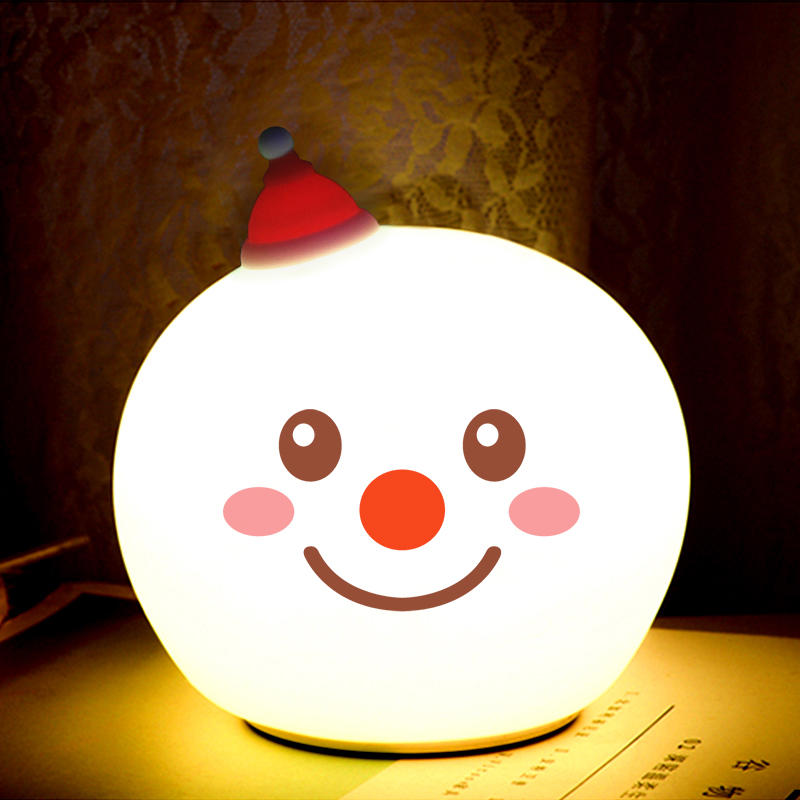 7 colors LED Creative Snowman Touch Sensor Tap Control Christmas night light For Children Baby Kids nursery