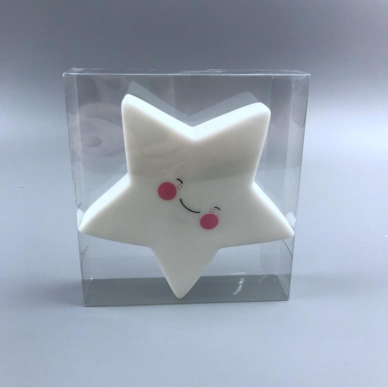 LED OEM Creative cute star with smile face battery night light ECO-ABS For Children Baby Kids gift