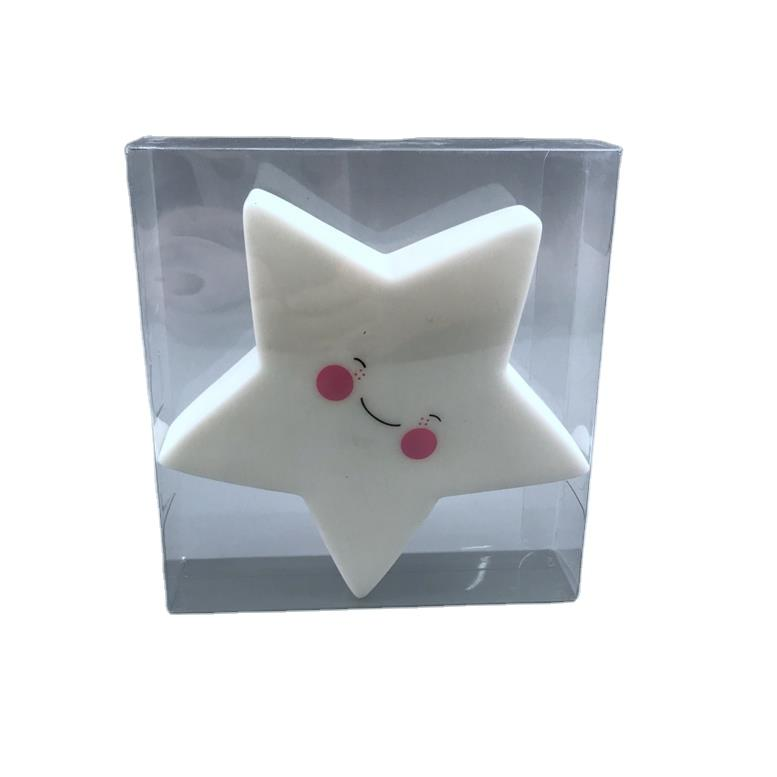 LED Creative Cute star with smile face ECO-ABS battery cartoon night light gift for Children Baby Kids