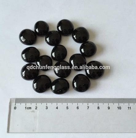 15-20mm Black Glass Pebbles