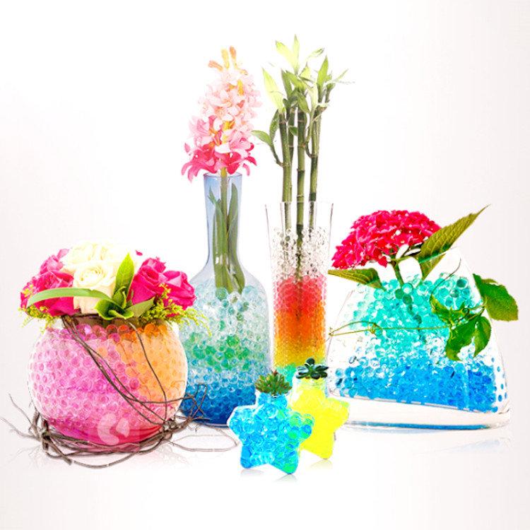 Sensory Magic Crystal Soil Gel Water Beads hydrogel for Plants Vase Wedding Home Decoration