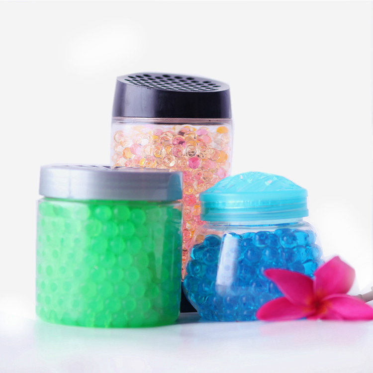 12 colors crystal soil beads and aroma gel air freshener