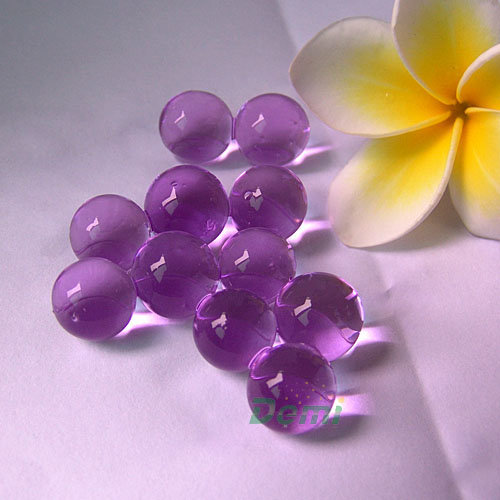 Blue polymer gel water beads making water gel beads