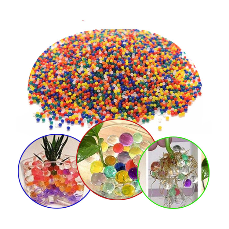 Unique colorful children toy magic crystal water beads, artificial plant water ball