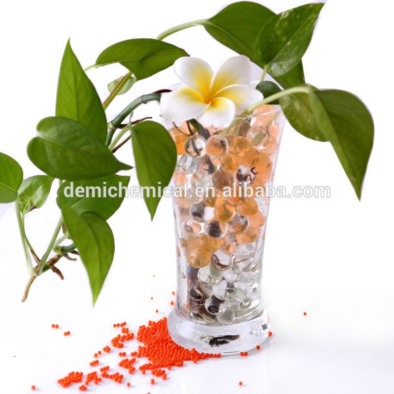 Hot sale Eco-friendly water crystal polymer balls for fresh cut flower arrangements