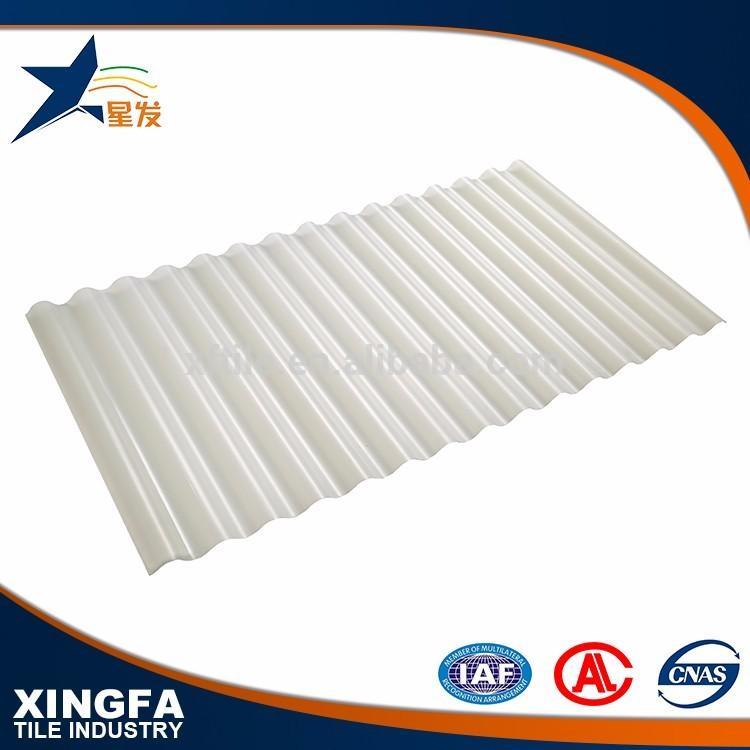 Wholesale hard plastic corrugated transparent roofing sheet
