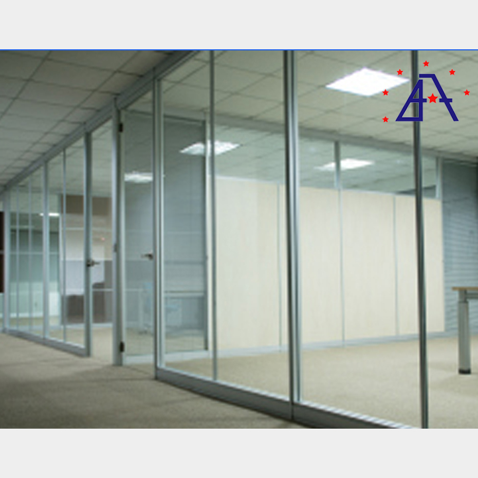 Aluminum Wall Glass Partition Dwg Seperation wall acoustic movable
