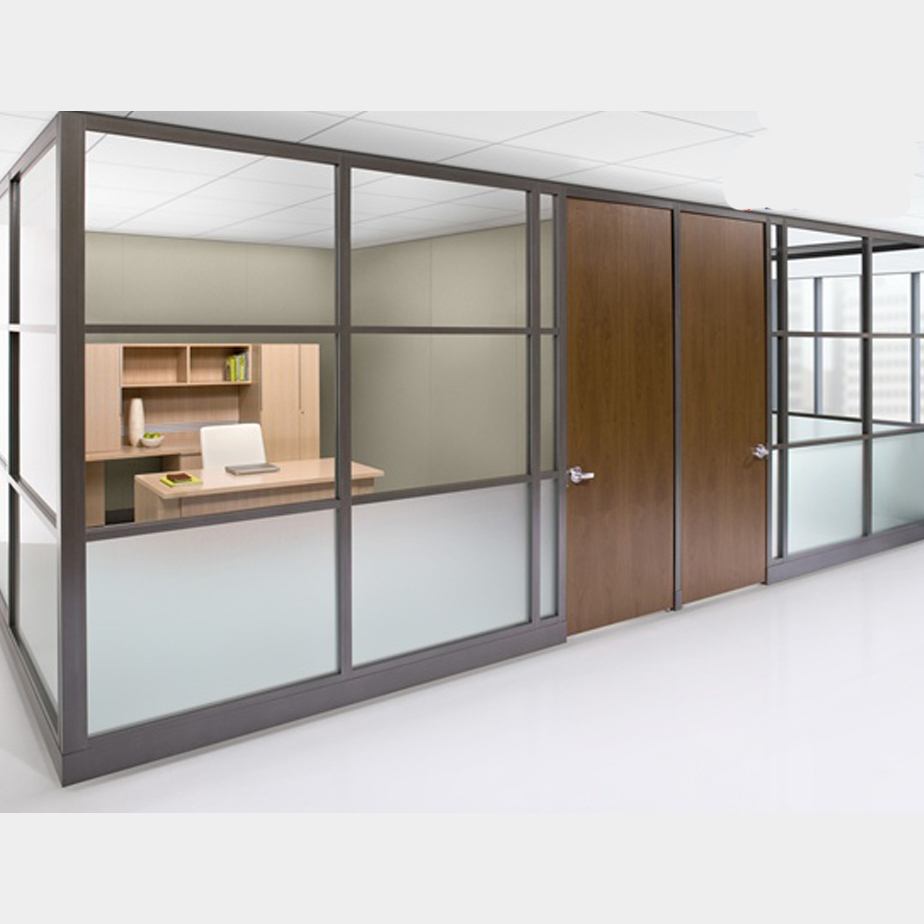 High Quality Modern Soundproof Double Glazed Glass Office Partition