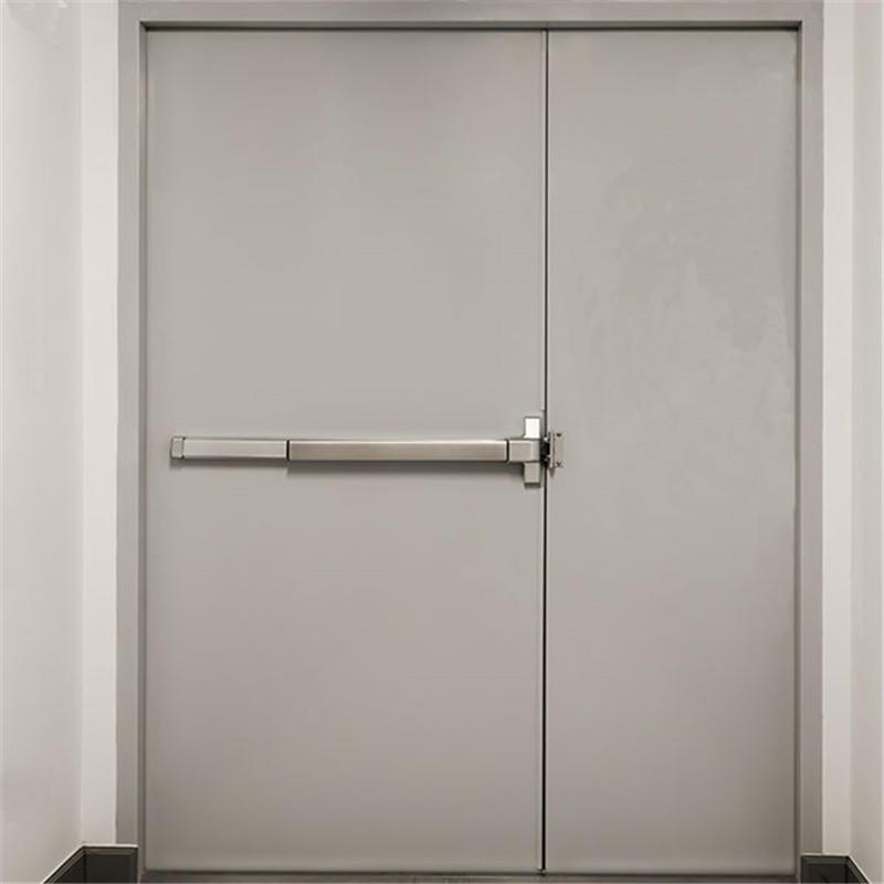 1400mm*2200mm fire double doors mother and son steel firedoor fire exit door panic bar