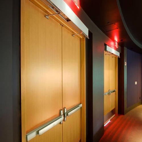 2090mm*2100mm double panels fire door fire rated door with panic bar