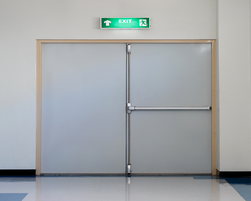 interior position commercial fire doors and frames fire escape security gate