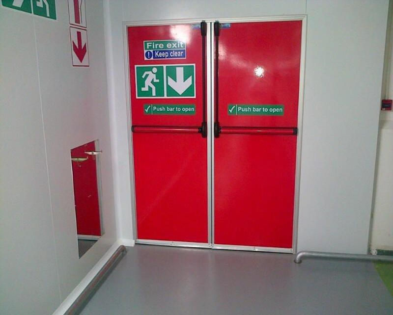 Guangzhou custom fire door manufacturers external fire exit doors