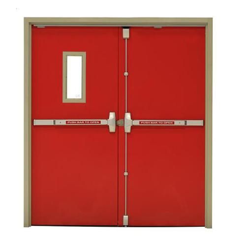 Red Color 50 mm Door Panel Thickness Fireproof Door Manufacturer with Steel and Perlite Material