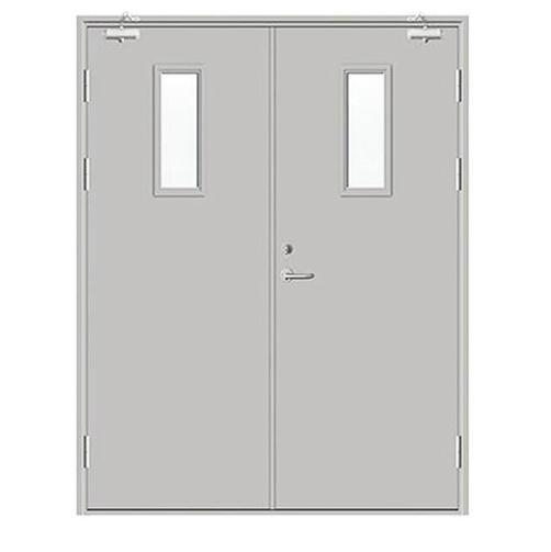 Steel Metal Factory Price Strong Double Door Panel Fireproof Emergency Door Manufacturer