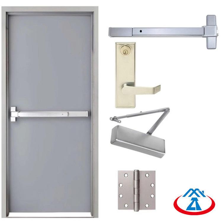 1000mmW*2100mmH 90mins fireproof timeEmergency Steel Fire Exit Door with Panic Bar