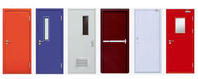 fire protection function Fire door with vision panel emergency exit door for commercial buildings