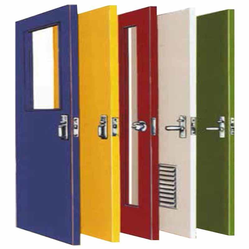 Single panel fire door 1000mm*2100mm fire steel door fire proof door with view window