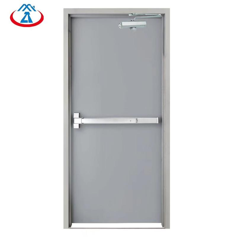 Safety 990mm*2090mm Single Emergency Steel Fire Exit Door with Panic Bar
