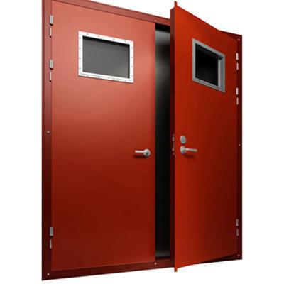 Safety Security Strong Double Door Panel Fireproof Emergency Door Supplier