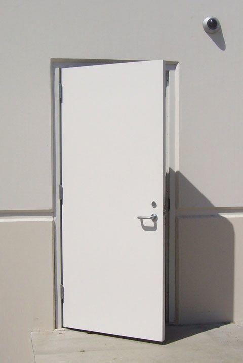 900mm*2050mmfire steel door fire exit door steel with panic bar ready to ship