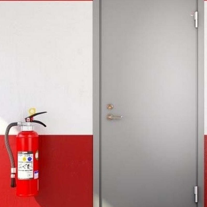 90 Minutes Emergency Exit Fire Rated Steel Door with Push Bar