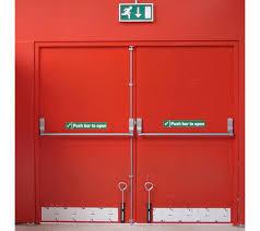 StrongSteel MetalDouble Door Panel Fireproof Emergency Door