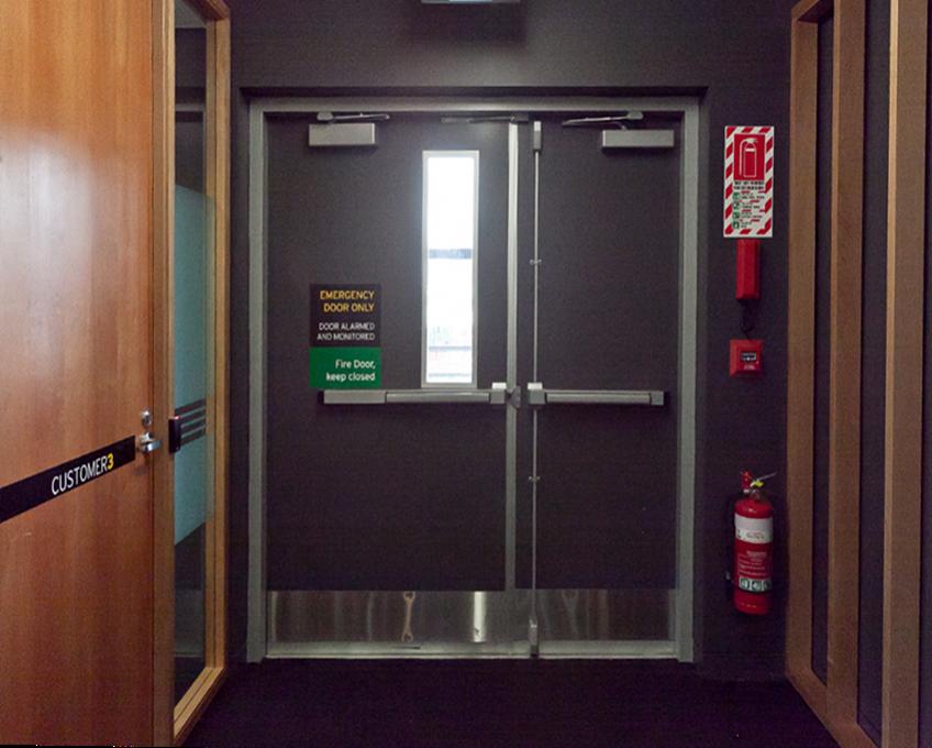Guangzhou external positionfire escape doors high security door
