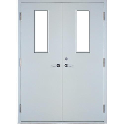 Red Color Steel Material With Perlite 50 mm door Panel Thickness Fireproof Door Manufacturer