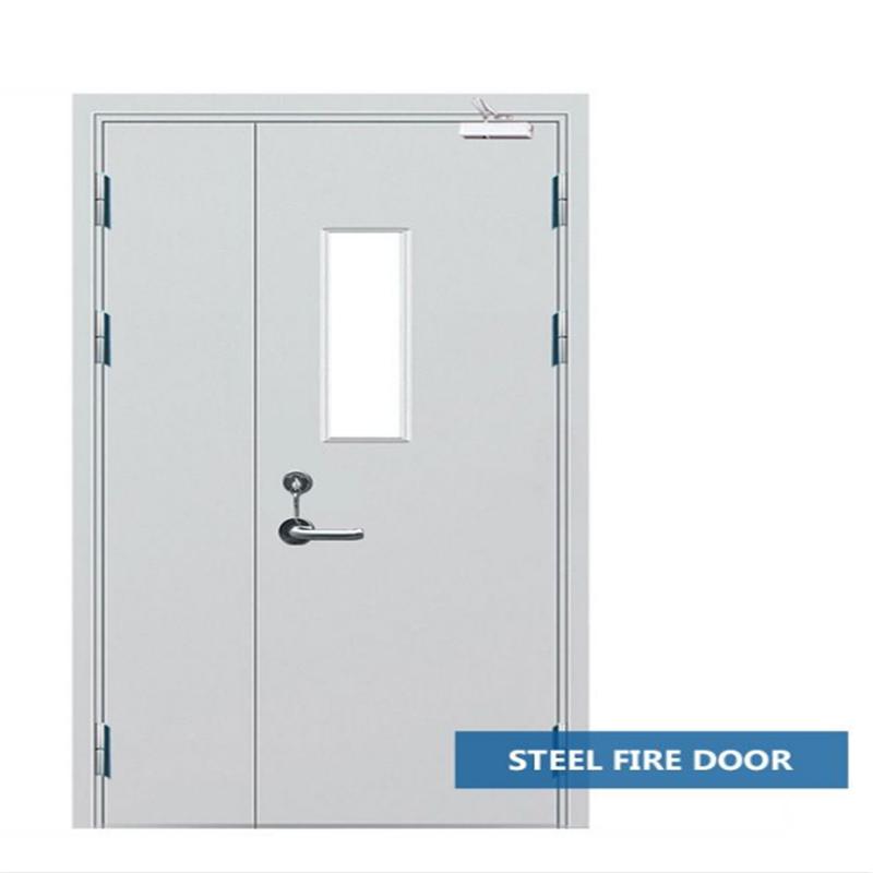 1400mm*2200mm fire door fire exit door fire-proof door with view window mother and son doors