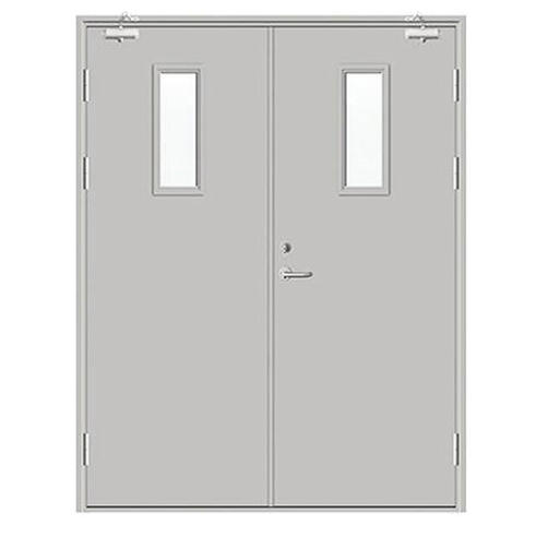 800mmWide*2200mmHigh Red Color Steel Material With Perlite with Panic Bar Factory Price Fireproof Door