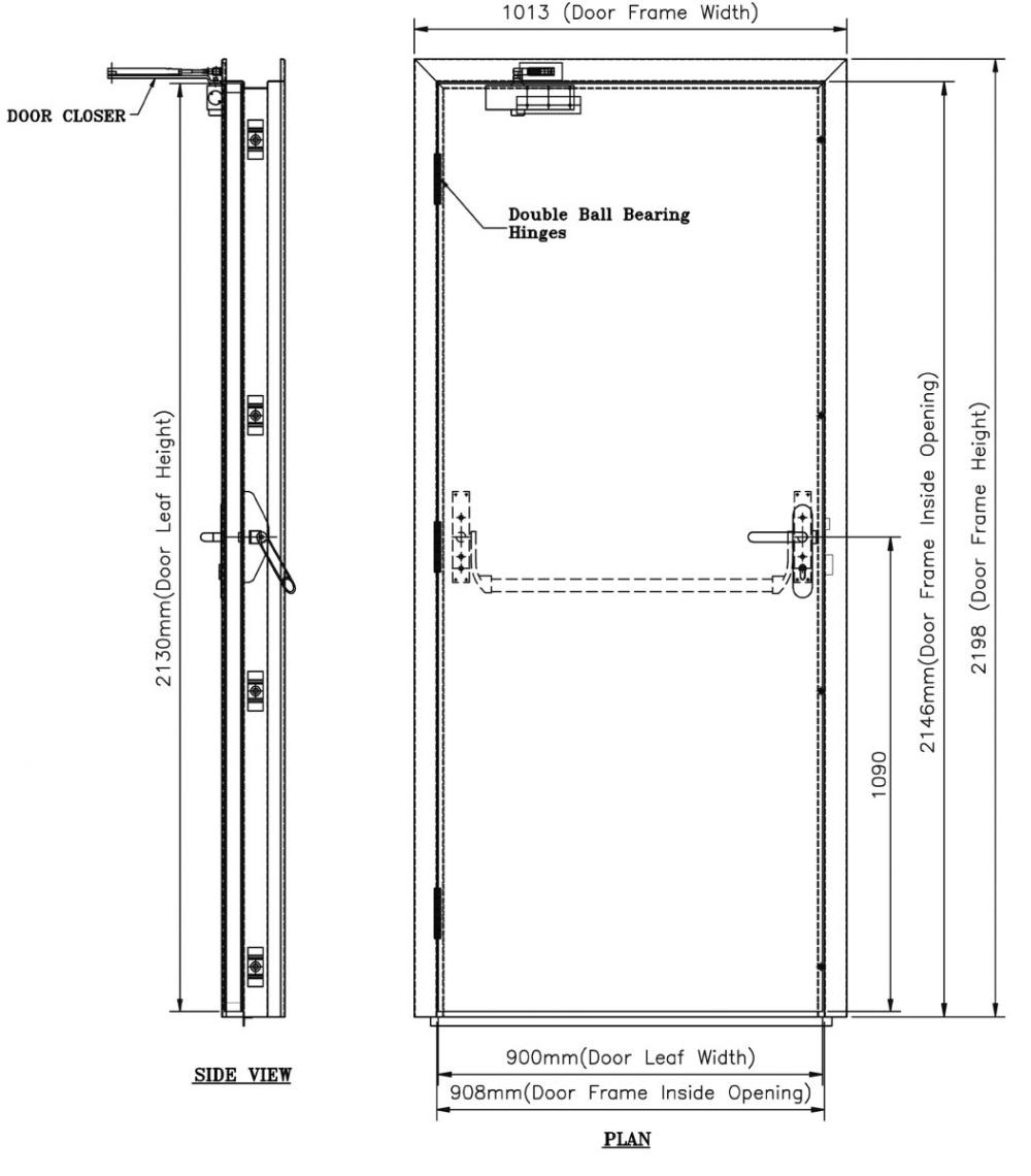 Guangzhou manufacturer safety 3 hours fire rates door exterior position fire rate door