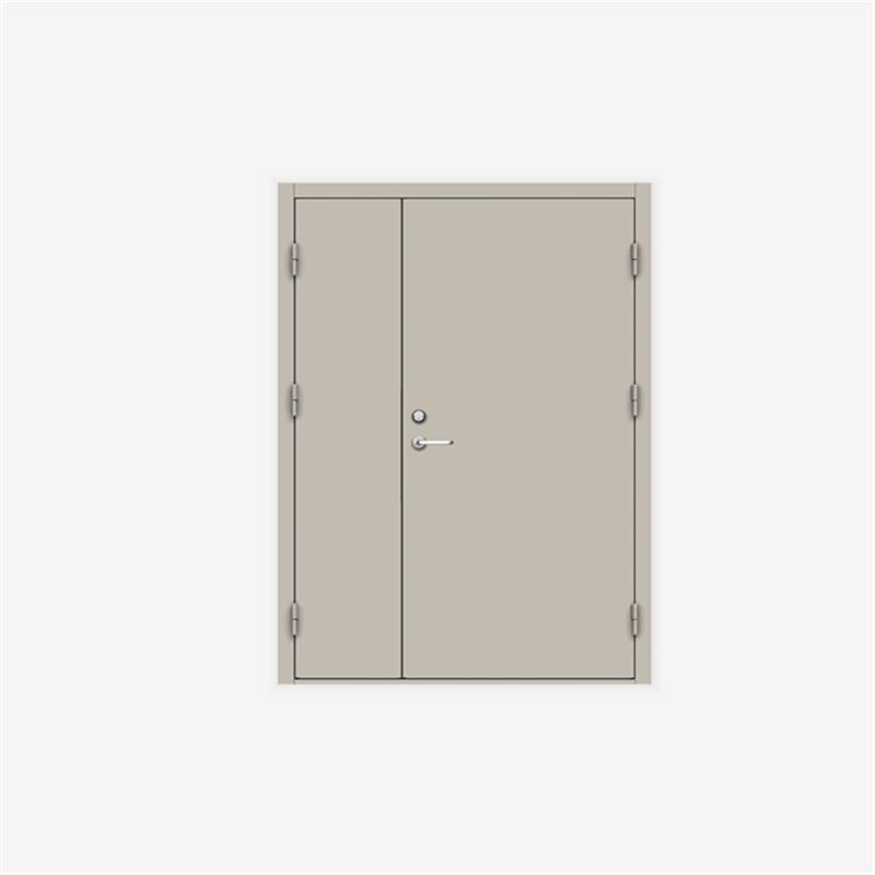 1400mm*2200mm mother and son steel firedoor double panels fire exit door