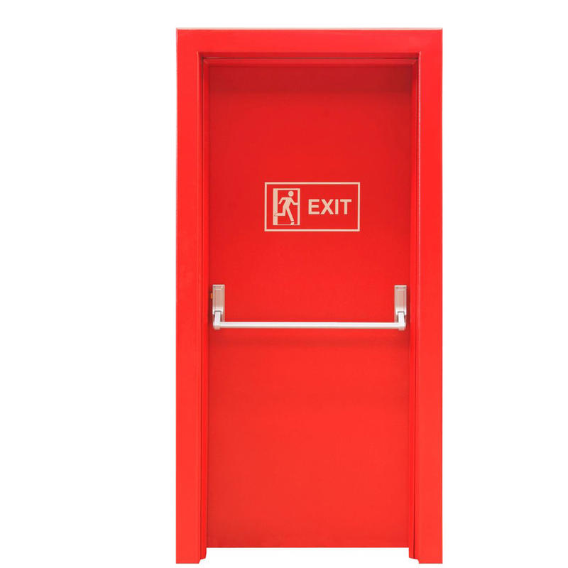 Strong Galvanized Steel Material Fireproof 90 minutes Rated Fire Resistance Time Door