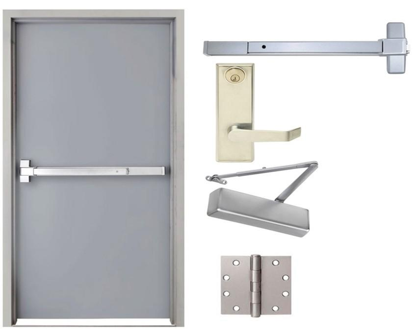 finished surface 3 hours fire rated doors exit fire rated doors for sales