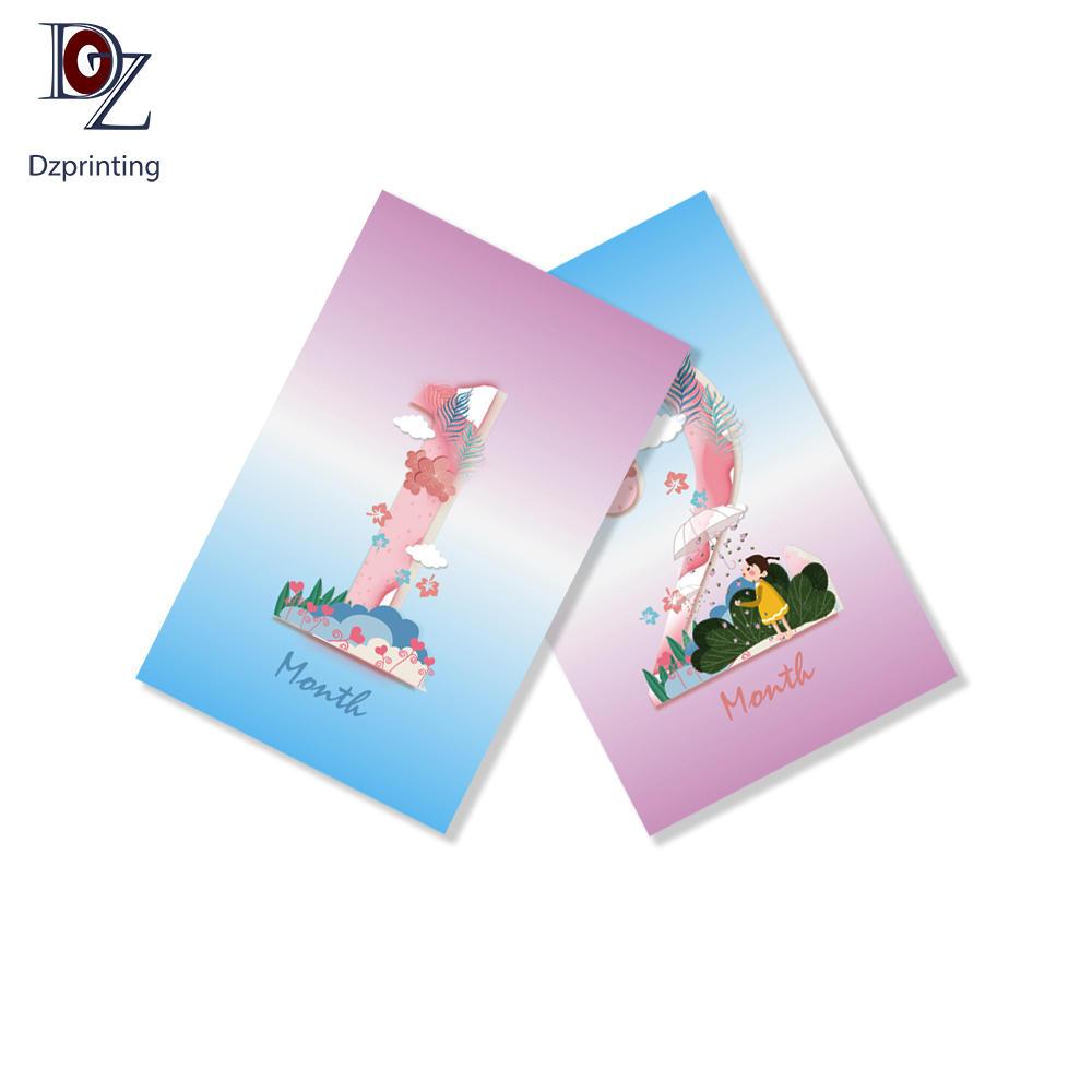 Custom 4x6 Baby Shower Boys Girls Memorable Moment Milestone Cards