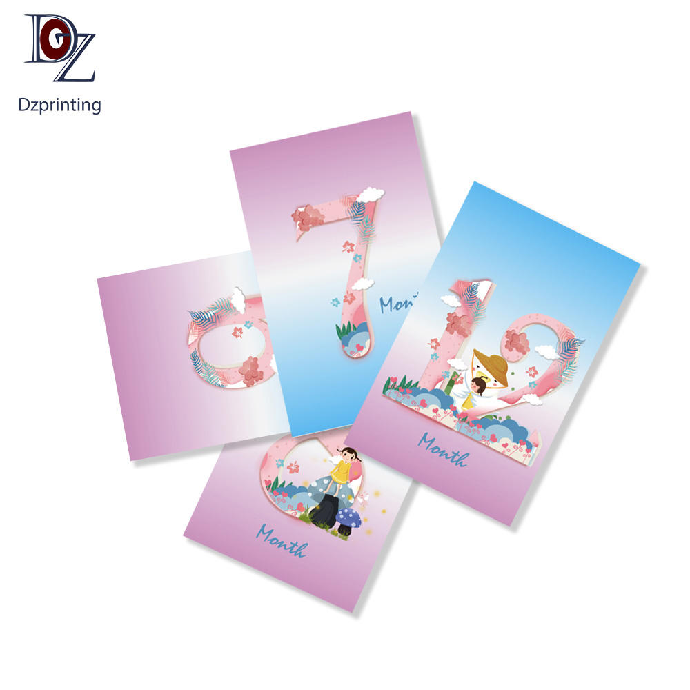Factory Custom Design Funny Boys Girls Memorable Moment Baby Milestone Cards For Parents