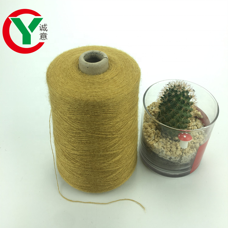 2019 Rabbit Hair like Core Spun Yarn for Knitting 28S/2 Viscose/Nylon/PBT blended yarn