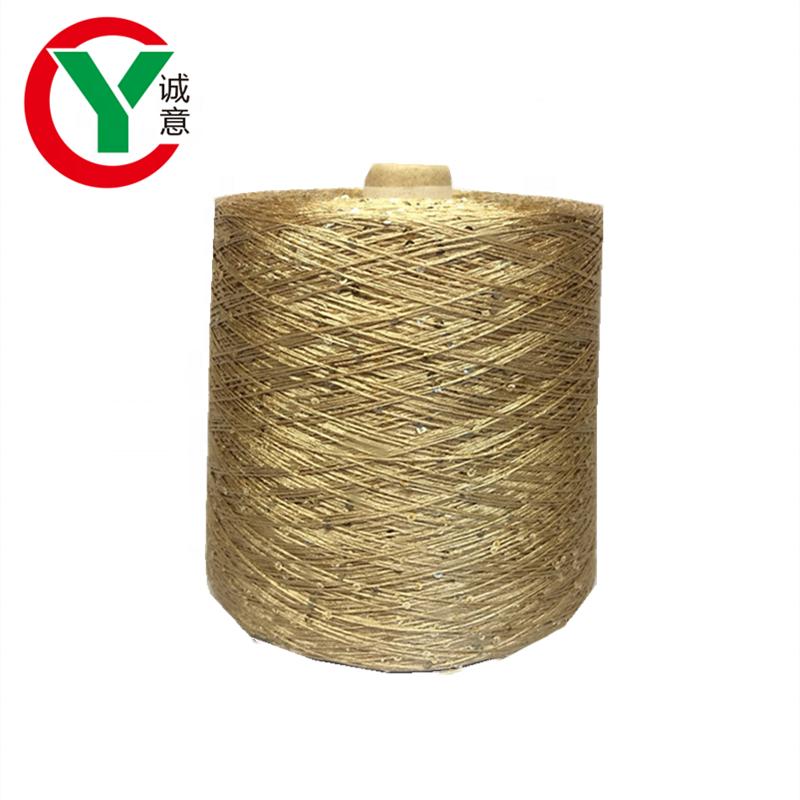 black thread silver sequin yarn 2020 new type 100% polyester fancy yarn for hand knitting