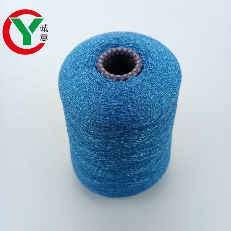 acrylic cottonblend yarn withmetallic yarn for knitting