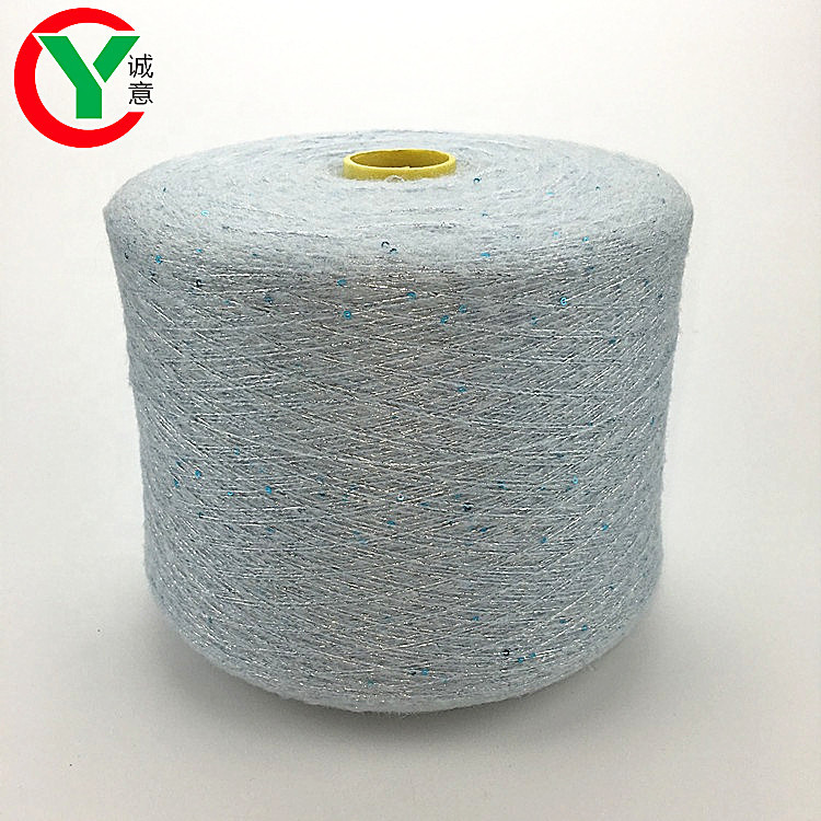 Special fancy yarn mohair with 3MM color sequins blend yarn used for knitting dress ,sweater