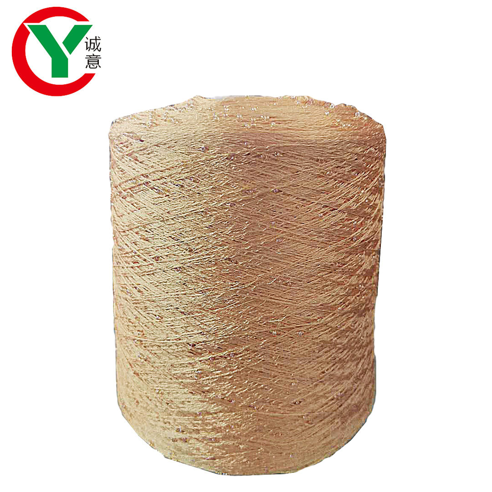China fancy yarn manufacturerhigh quality sequins yarn with round beads