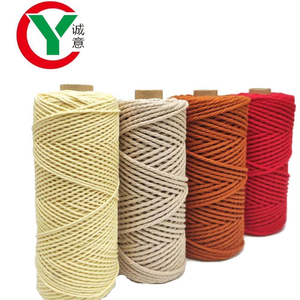2MM macrame rope100% Cotton NaturalHandmade Soft 4 ply Cotton Cord Rope forKnitting