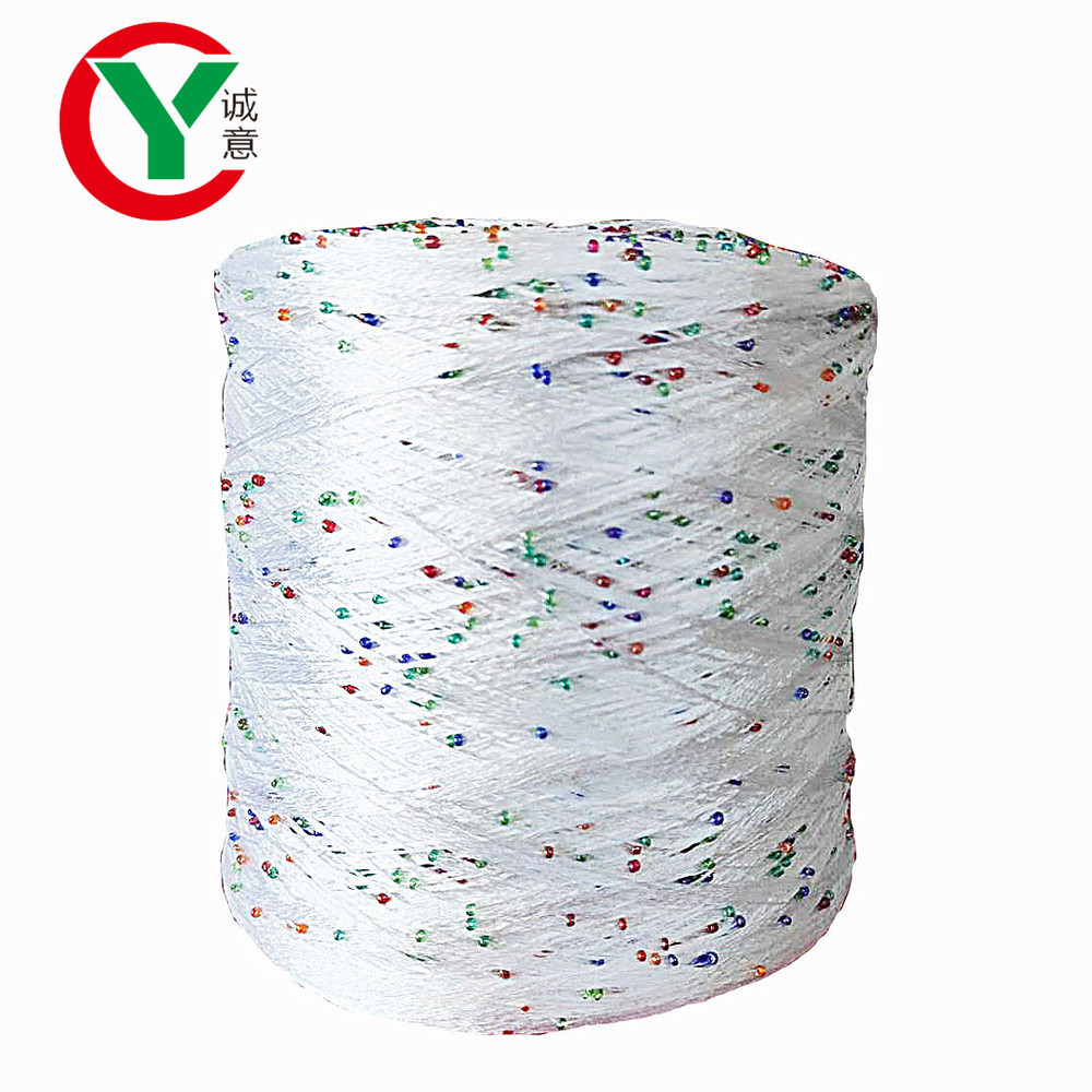 Factory wholesale fancy yarn 100%polyester beads yarn for knitting