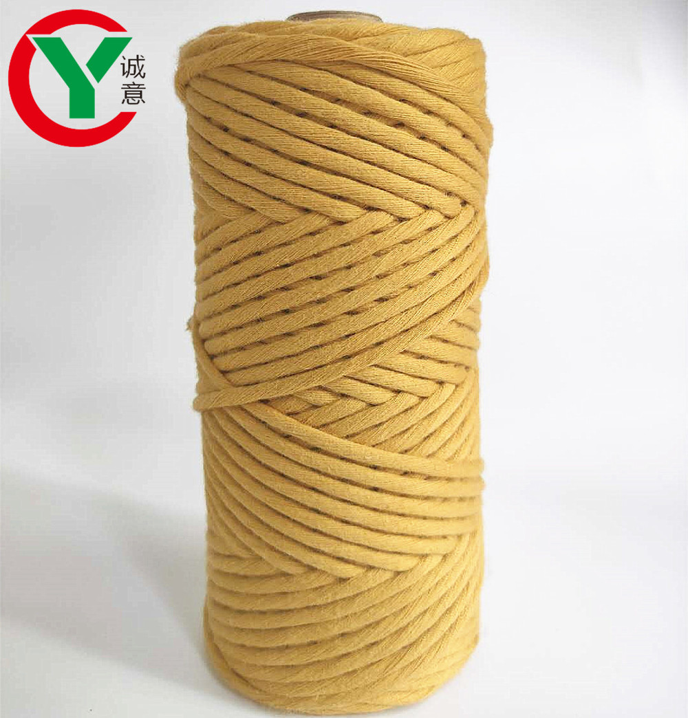 Hot sales100%Cotton yarn macrame cord for DIY and hand knitting
