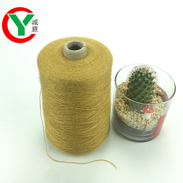 Customized viscose/nylon/PBT rabbit hair like core spun yarn elastic yarn for knitting and sweater
